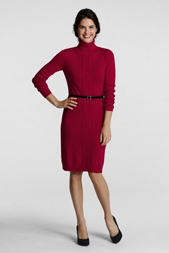 Classy Red dresses blogs: Red long sleeve turtleneck dress