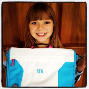 ... -style book bag. She's thrilled with her new ClassMate bag
