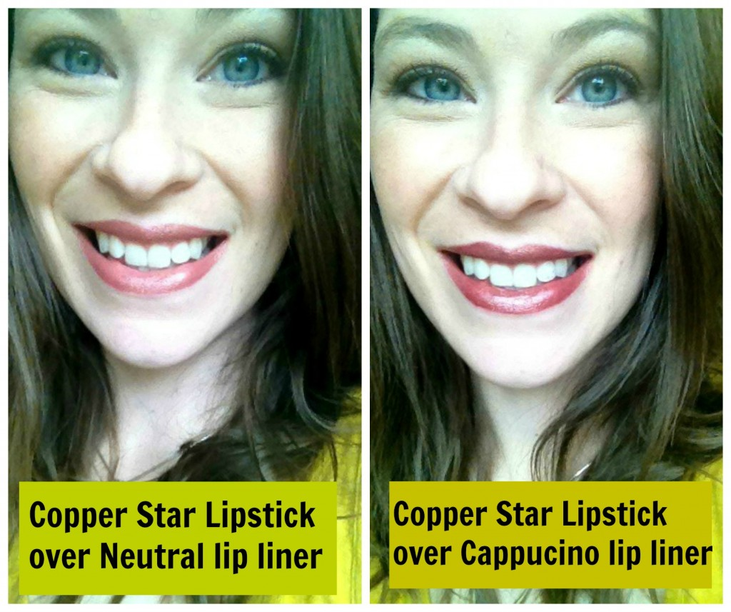 liner lipstick collage text