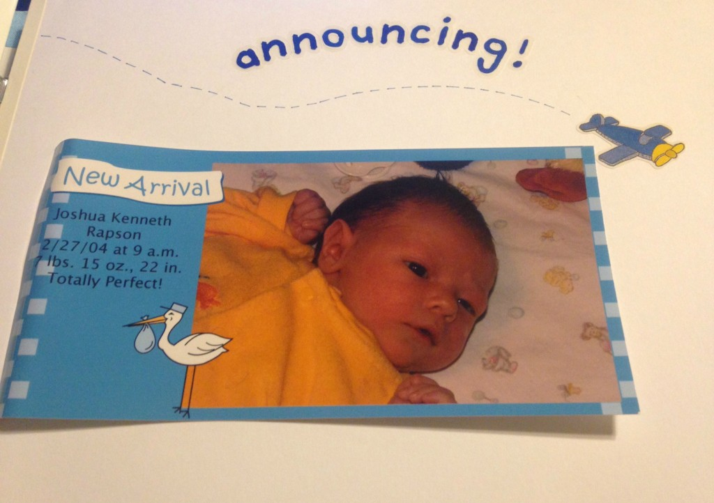 Joshua Birth Announcement
