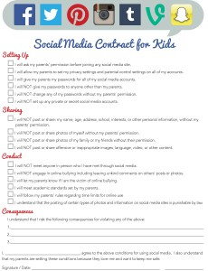 iMOM Social Media Contract