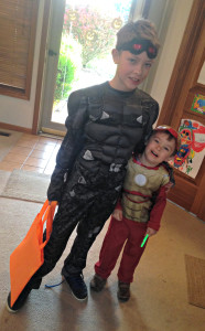 Joshua was Falcon from the Captain America movie and Jonah was a reluctant Ironman.